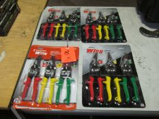 Lot - (4) Packages of Aviation Snips (3-per Pack)