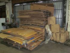 Lot - Cardboard Gaylords and Fiberboard Plate