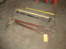 Lot - (3) Hand Picks and (2) Sledge Hammers