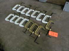 Lot - (15) C-Clamps