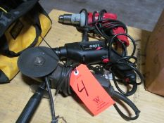 Lot - (2) Electric Drills and (1) Disc Grinder