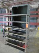 Lot - (1) 6-Tier Portable Rack and Shelving Unit