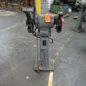 Valley 1-HP 8 in. Double End Bench Grinder, S/N: 51803; with Pedestal (Ref. #: 1-3)