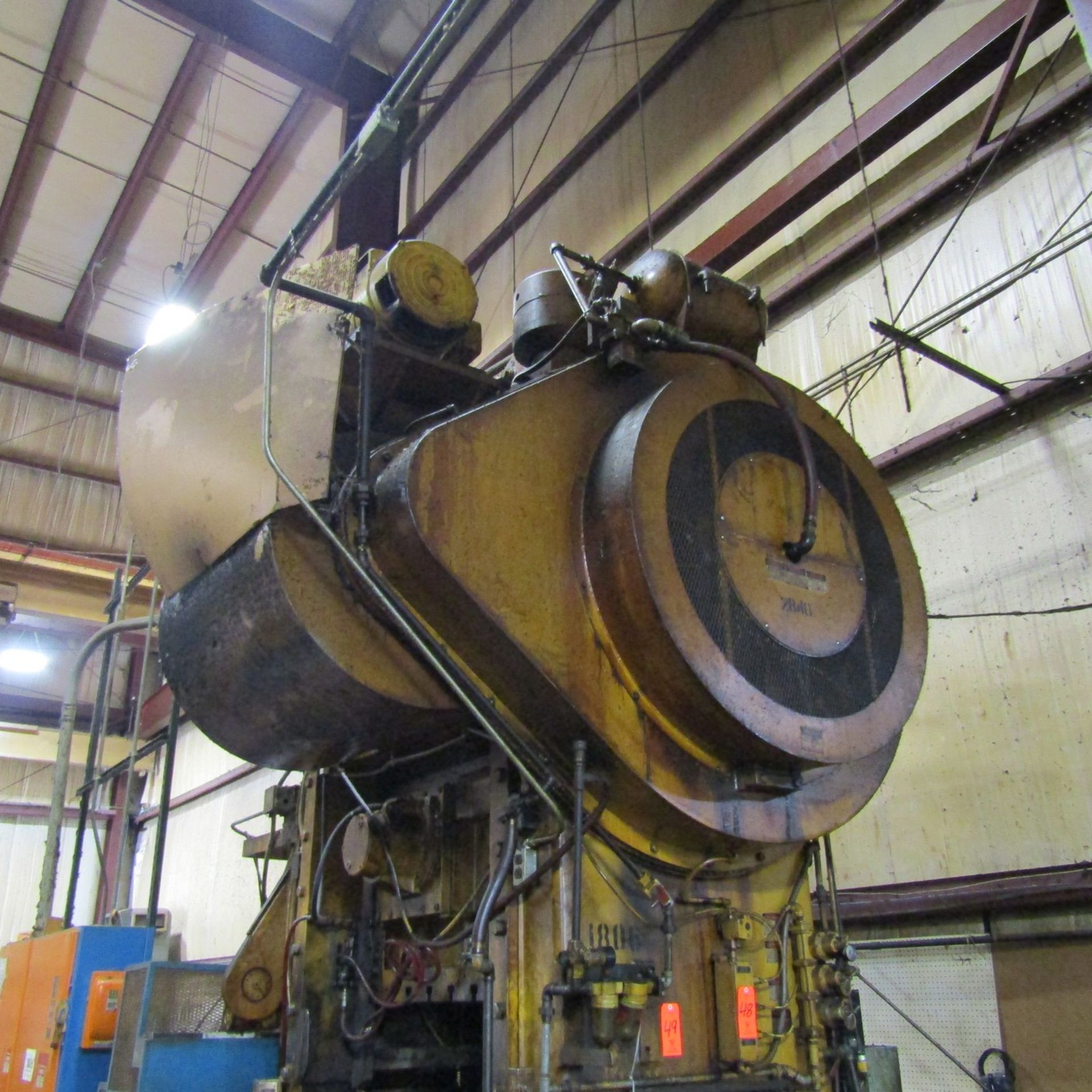 Lot 49 - Minster 200-Ton Cap. Piecemaker Model P2-200-48 Stamping Press, S/N: P2-200-24477; with 6 in.