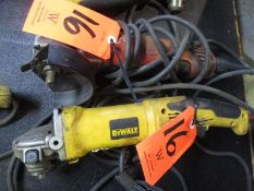 Lot - (2) Electric Angle Grinder; (1) Milwaukeee and (1) DeWalt