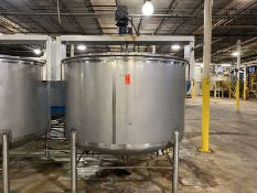 Walker 1,200 Gallon Cap. T-304 Stainless Steel Vertical Single Wall Tank, S/N: 1429-8915; with