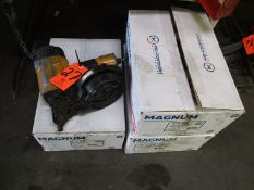 Pneumatic Nailer; with (3) Full Boxes of Magnum 2 in. x .099 Bright Screw Shank, Blunt Diamond