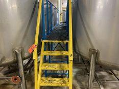 24 in. x 21 ft. Steel Workers Platform; 4-Step Ladder