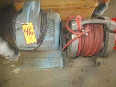 Lot - Sahara Turbo Dryer, Hose Reel and Warning Flare Kit