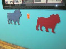 Lot - (4) Victory Bull Dog Wall Hangings