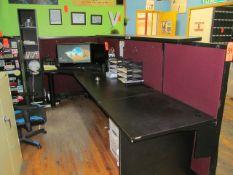 Reception Desk; with Disc Storage Shelf