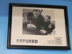 Lot - (8) Photos, Former Band Clients: Refused, Hawthorne Heights, Earth Crisis, Spitalfield,