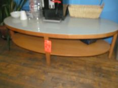Wood Occasional Table with Glass Top