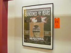 Lot - (6) Song Release Posters from: Abandoned By Bears, Seeker, Conveyor, Awaken I Am, Reverend