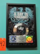 """RIAA Certified Platinum Record for the Single """"If It Means A Lot To You"""" by A Day To Remember, to"""