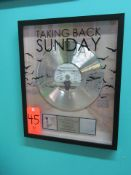"""RIAA Certified Gold Record for """"Where You Want to Be"""" by Taking Back Sunday, to Commemorate"""
