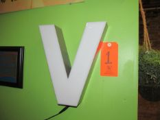 """Small """"V"""" for Victory Lighted Sign"""