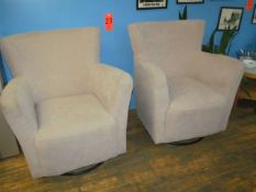 Lot - (2) Gray Upholstered Chairs