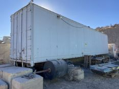 45 ft. Tandem Axle Van Storage Trailer (No Title)