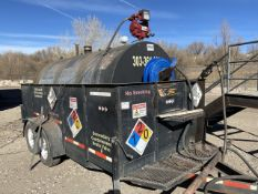 2,200 Gallon Cap. Fuel Tank; Mounted on 64 in. x 12 ft. Tandem Axle Tag Containment Trailer, VIN: