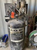Black Max 6.5-HP Model B06Z080V2E154 2-Stage Vertical Tank Mounted Air Compressor, S/N: U002539Z; 80