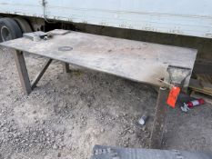 4 ft. x 8 ft. x 3/4 in. Steel Welding Table; with 6 in. Bench Vise