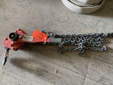 Dayton 6-Ton Model 48ME57A Level Chain Hoist ( Come-a-Long), S/N 90401384