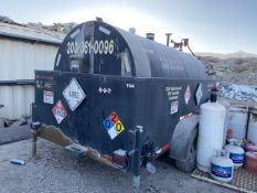 2,200 Gallon Cap. Fuel Tank; Mounted on 64 in. x 12 ft. Tandem Axle Tag Containment Trailer (No