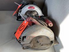Lot - (1) Drill Master 7-1/4 in. Electric Circular Saw, (1) Skilsaw 7-1/4 in. Electric Circular Saw