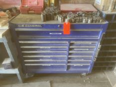 Lot - US General 13-Drawer Tool Chest; with Contents to Include: Sockets, Wrenches, Levels & Hand