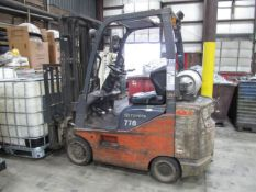 Toyota 2,200 lb. Cap. Model 8FGCSU20 LP Fork Lift Truck, S/N: 13770; with 3-Stage Mast, Side