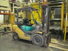 Komatsu 5,500 lb. Cap. Model 30HT-16 LP Fork Lift Truck, S/N: 222901A (2009); with 3-Stage Mast,