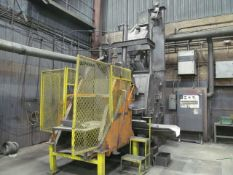 Wheelabrator 42 in. (approx.) Abrasive Tumblast Machine, S/N: A300231; with Tilting Load Hopper (