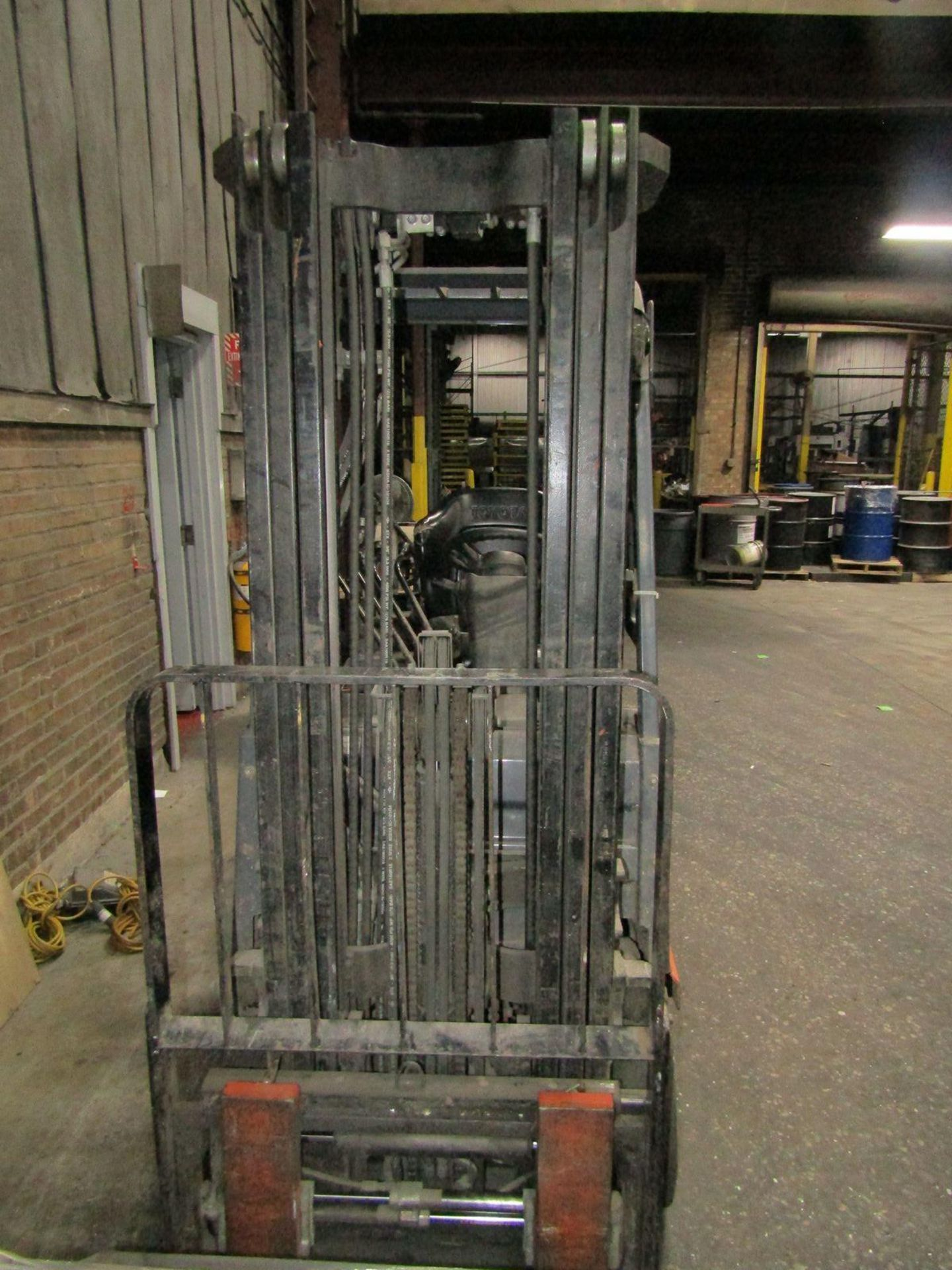 Toyota 5,000 lb. Cap. (approx.) Model 8FGCSU20 LP Fork Lift Truck, S/N: 20712; with 3-Stage Mast, - Image 7 of 8