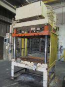 Metal Mechanics 75 U.S. Ton Cap. Model DCT-75 Four Column (Post) Vertical Hydraulic Die Casting Trim