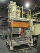 Hannifin 50 U.S. Ton Cap. Model TP-50-6 Four Column (Post) Vertical Hydraulic Die Casting Trim