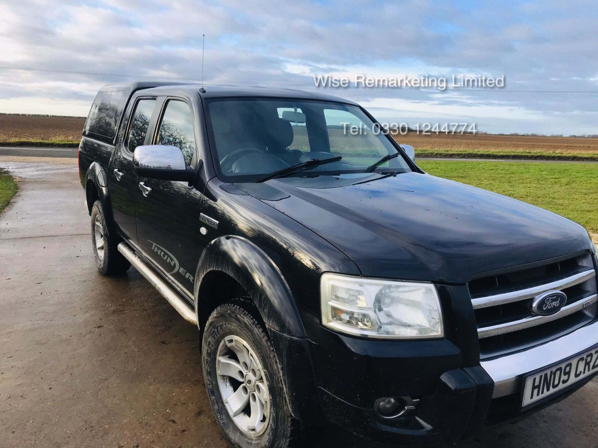 Lot 44 - (RESERVE MET) Ford Ranger Thunder 2.5 Double Cab Pick Up - 2009 09 Reg - 4x4 - Service History