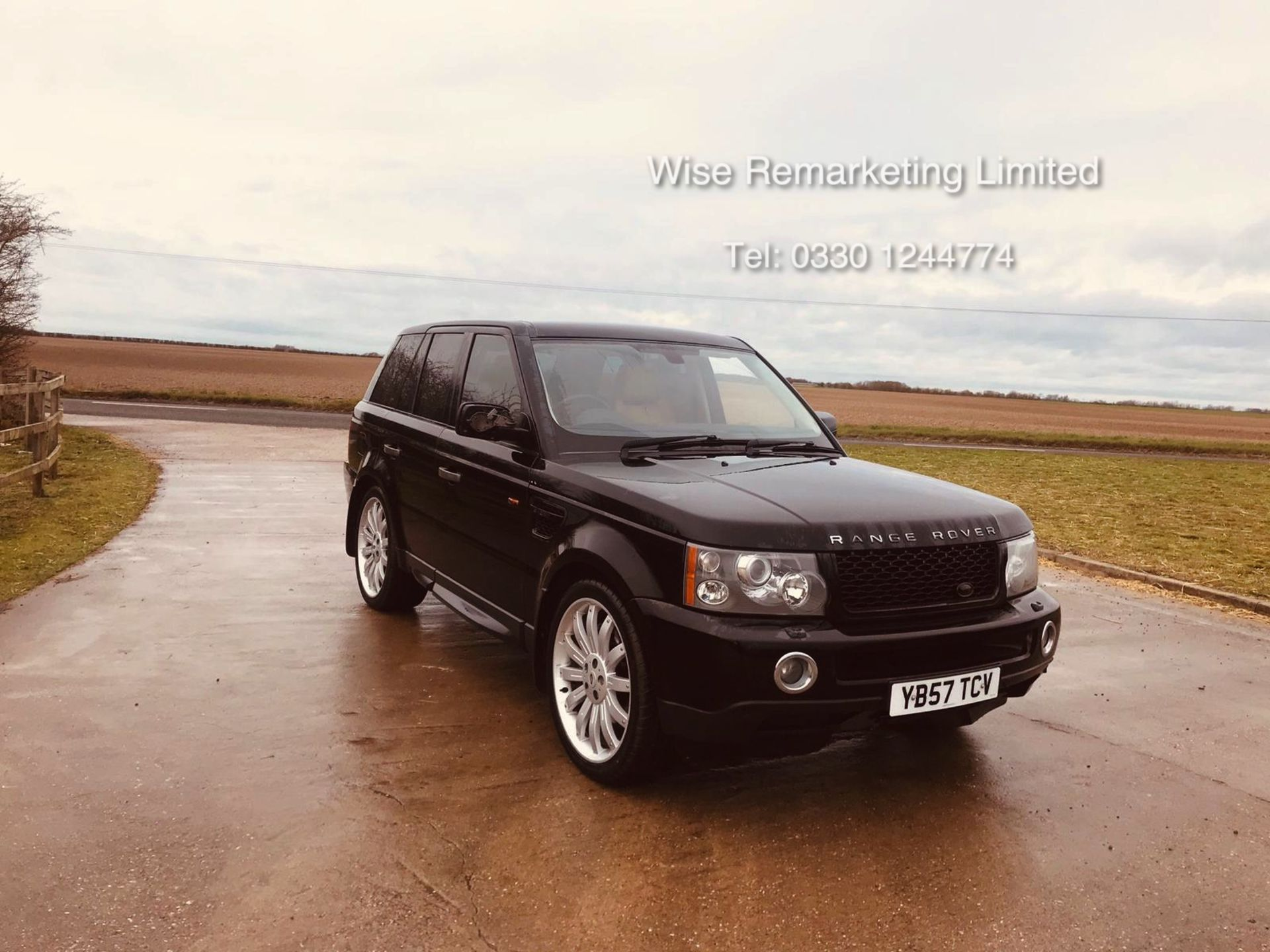 Lot 34 - Range Rover Sport 2.7 TDV6 HSE Auto - 2008 Model - Cream Leather - Sat Nav - Heated Seats