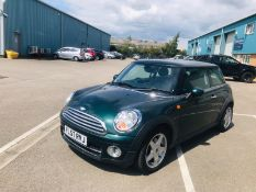 (RESERVE MET) Mini Cooper 1.6 D Hatchback - 2008 Model - Full Leather - Air Con - Heated Screen -