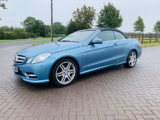 (RESERVE MET) Mercedes E220 Sport 2.1 CDI Convertible - 2012 12 Reg - Black Leather - Heated Seats