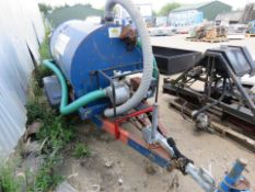 Towed Water Bowser With Petrol Engined Pump On Ball Hitch Coupling