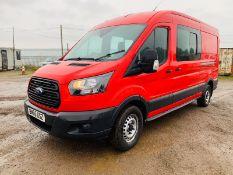 (RESERVE MET) Ford Transit 350 2.0 TDCI Dualiner/Crew Van (6 Seats) -2017 Reg -Medium Roof -Euro 6b