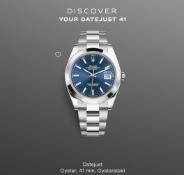 (RESERVE MET)Rolex Datejust 41, Blue Dial, Smooth Bezel, 126300, BRAND NEW, UNWORN
