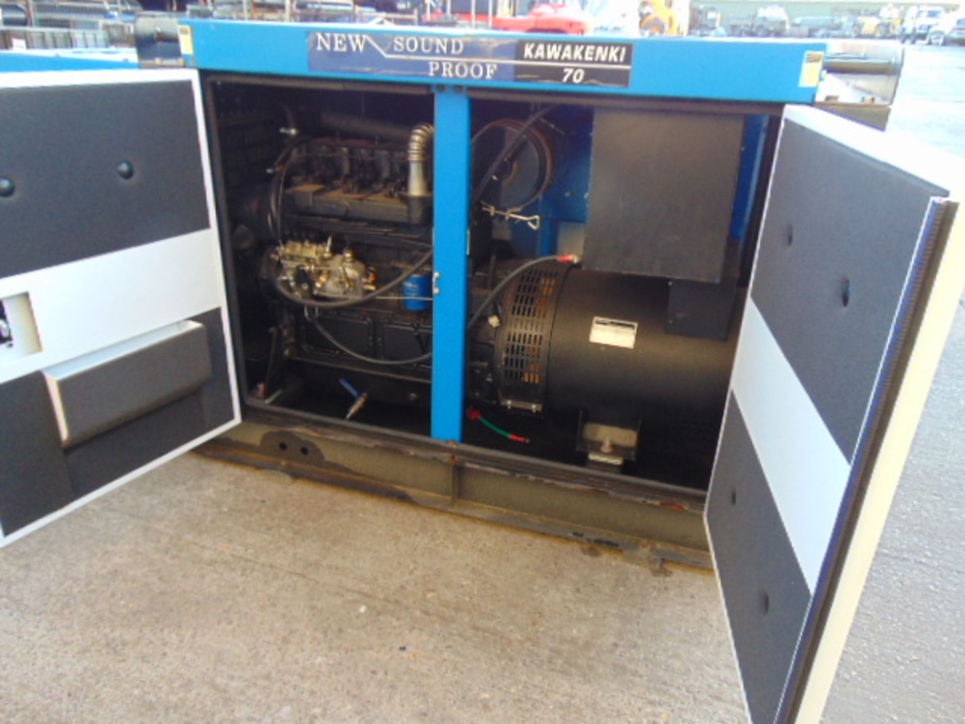Lot 46 - UNISSUED WITH TEST HOURS ONLY 70 KVA 3 Phase Silent Diesel Generator Set