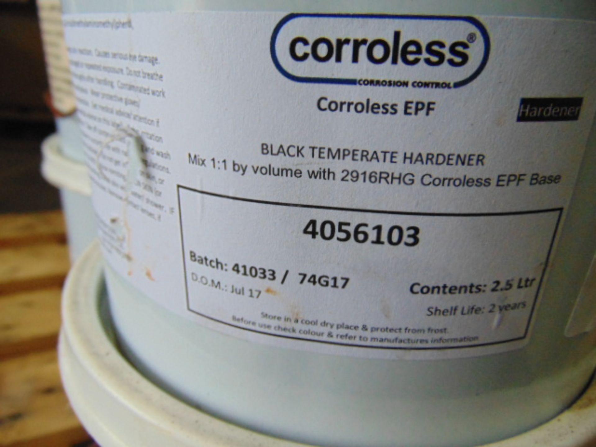 Lot 69 - Qty 12 x Corroless EPF 2-Part Rust Stabilising Primer direct from reserve stores