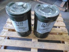 Qty 2 x 25 Ltr O-135/OM-11 Oil direct from reserve stores