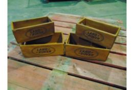 4 x Land Rover Wooden Display / Storage Boxes