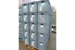 25 x Standard MoD Stackable Storage Boxes c/w Lids