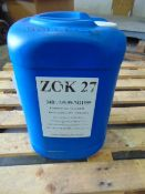 Qty 1 x 25 L Zok-27 direct from reserve stores