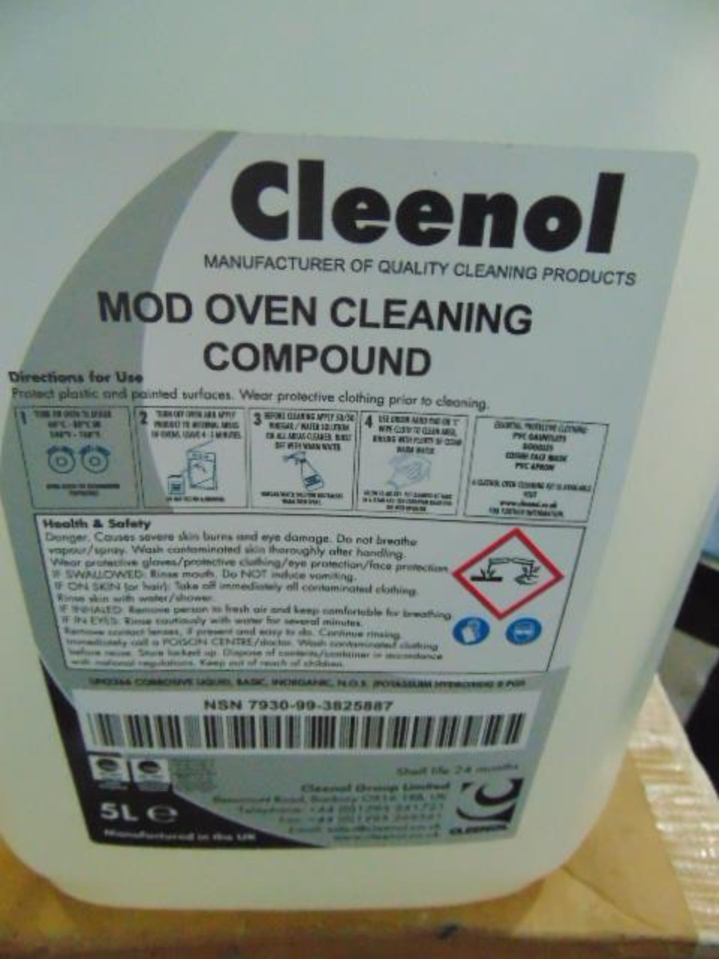 Lot 101 - Qty 12 x 5Ltr Mod Oven Cleaning Compound direct from reserve stores